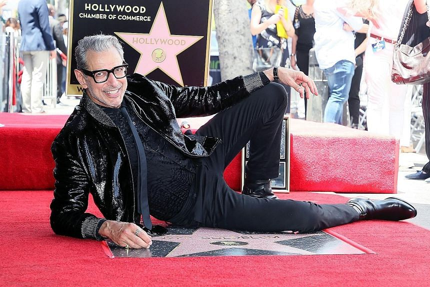 A veteran of 80 movies, actor Jeff Goldblum was honoured with a star on Hollywood's Walk of Fame on Thursday.