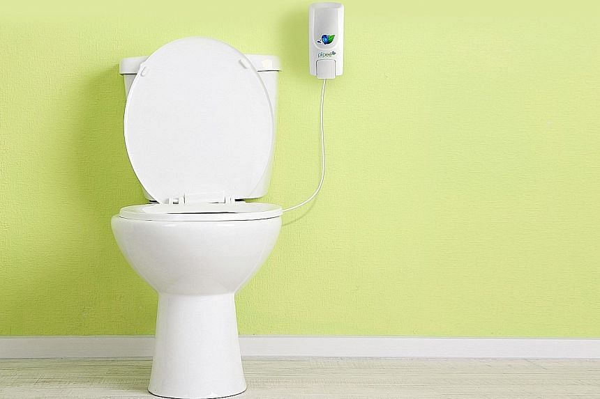 Pee and go - and Piipee will neutralise the smell and colour of your urine.