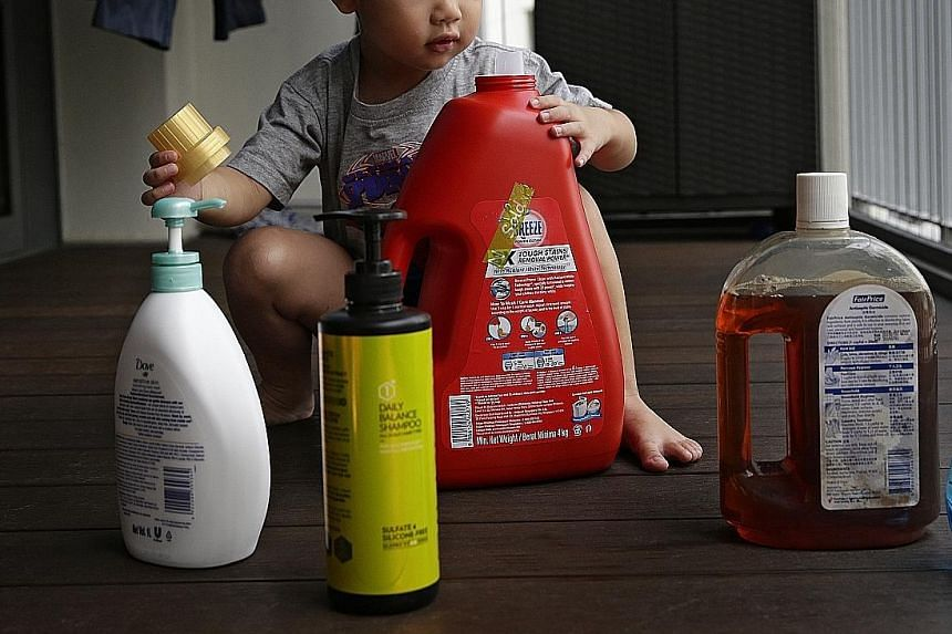 """Toddlers swallow household stuff such as shampoo simply because they are """"ambulant, curious about their surroundings and have not learnt to discriminate between poisons and edible food"""", a study found."""