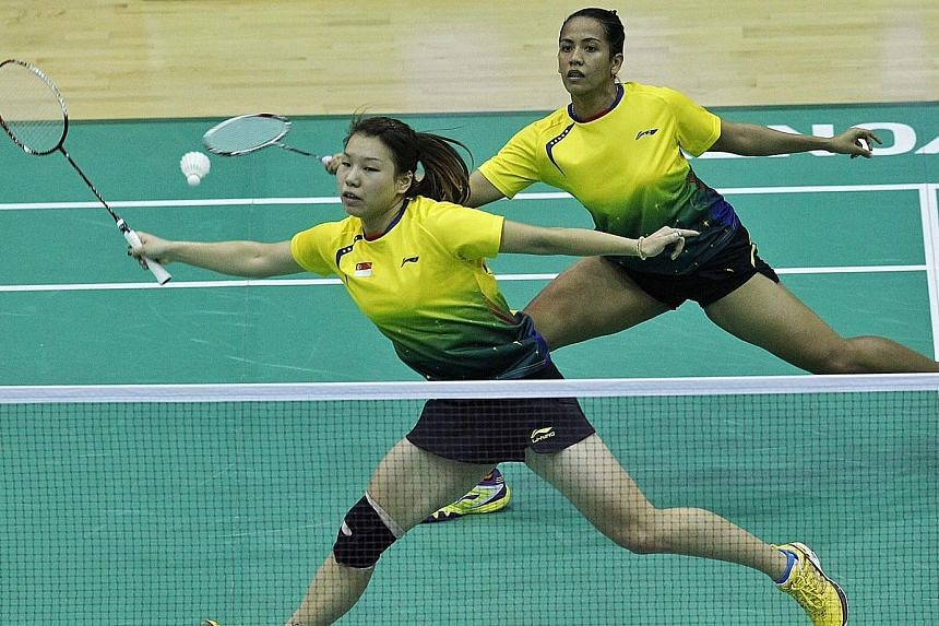 Former national shuttler Yao Lei is best known for her women's doubles partnership with Shinta Mulia Sari. They are pictured here playing at the SEA Games in Myanmar in December 2013. They also paired up for the Commonwealth and the Olympic Games.