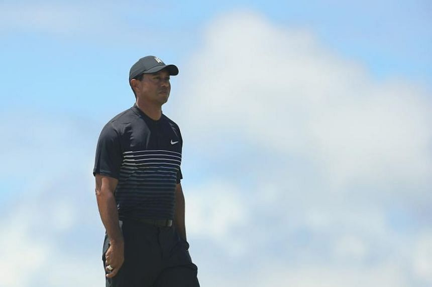 Tiger Woods of the United States looks on from the on the fifth green during the second round of the 2018 US Open at Shinnecock Hills Golf Club on June 15, 2018 in Southampton, New York.