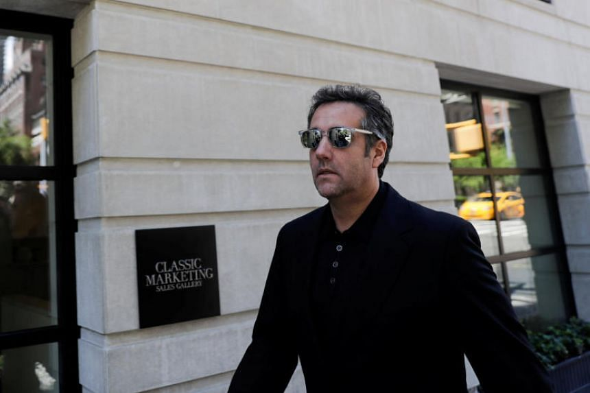 US President Donald Trump's lawyer Michael Cohen leaves his hotel in the Manhattan borough of New York City, New York, US, on June 15, 2018.