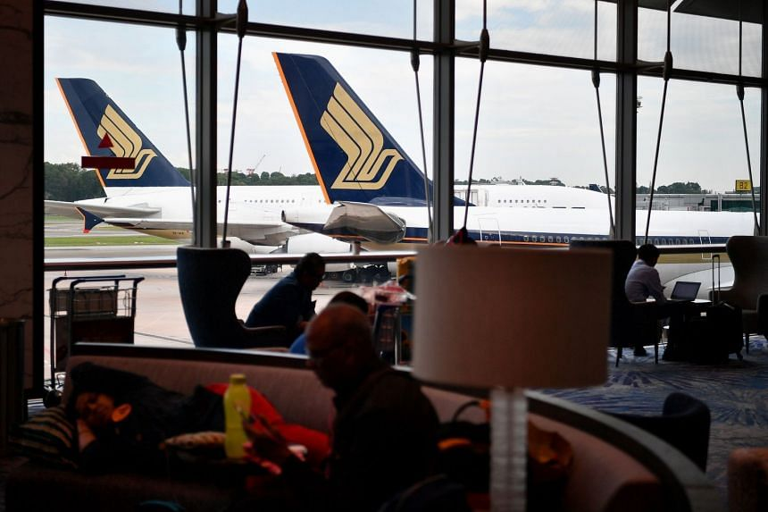 """When contacted by The Straits Times, an SIA spokesman said that the Boeing 777 was being """"pushed back"""" for departure from the gate when the evacuation slide was """"unexpectedly deployed""""."""