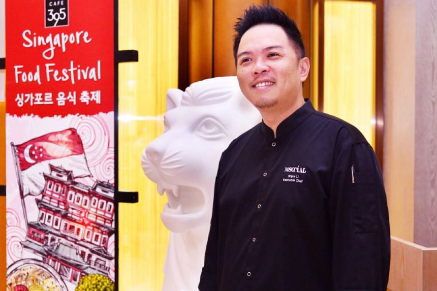 Chef Bryce Li speaks during an interview with The Korea Herald.