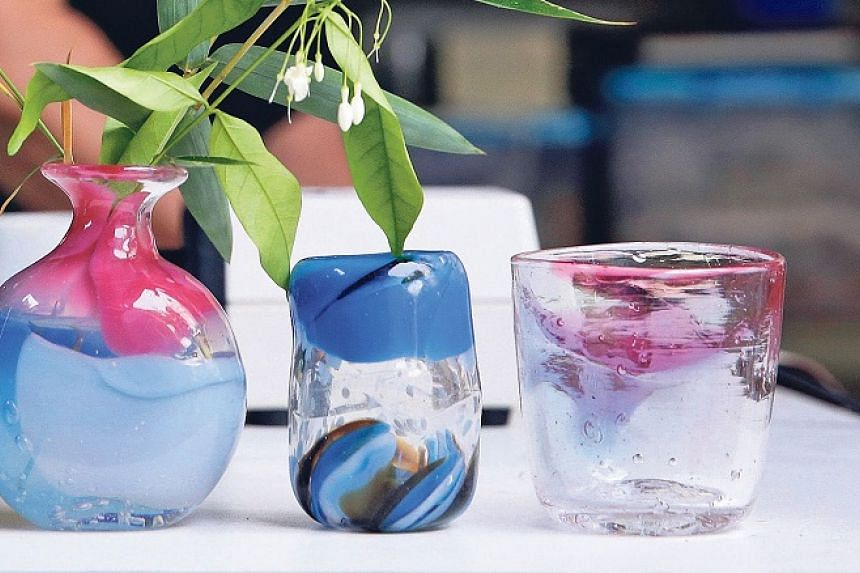 Vases and tumblers are some items participants can make at Art Glass Solutions.