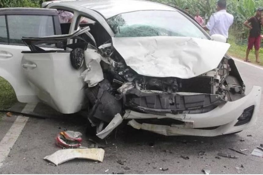 married couple die in johor car crash while driving home to