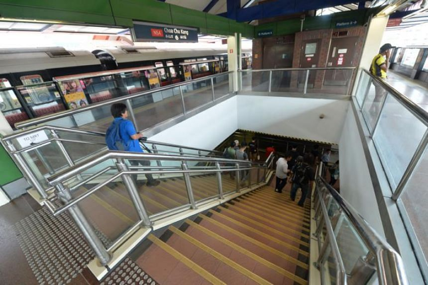 Choa Chu Kang MRT Station, one of seven stations that will close earlier at around 11pm every Friday and Saturday in July.