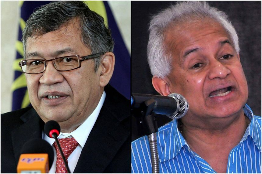 Malaysia's newly-appointed Attorney General Tommy Thomas (right) and former attorney general Tan Sri Abdul Gani Patail, who co-heads the special task force investigating 1MDB.