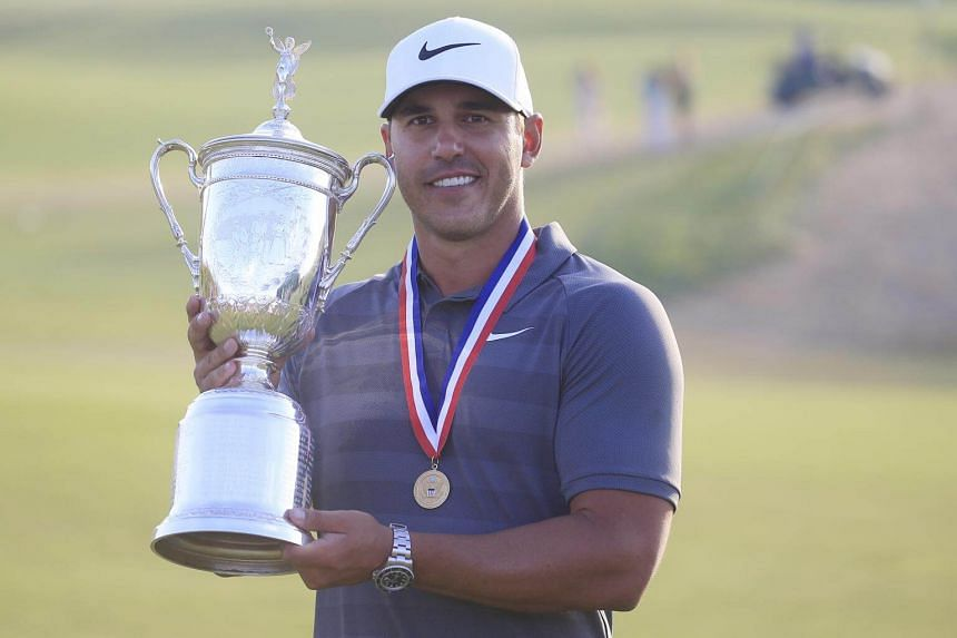 A year after he marched to victory with a 16-under total at Erin Hills, Brooks Koepka kept his nerve on the back nine to emerge with a one-over-par total of 281.