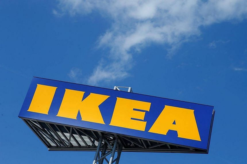 The Ikea logo seen above a store in Voesendorf, Austria, on April 24, 2017. The company will launch its first store in India next month.
