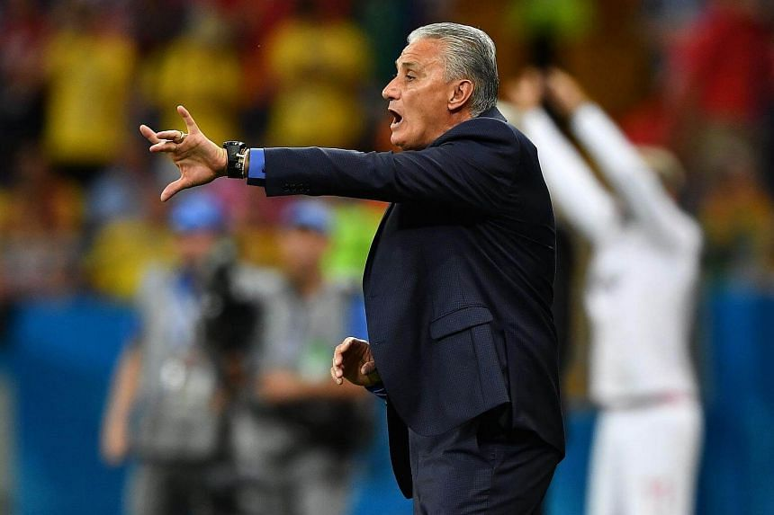 Brazil's coach Tite gestures during the Russia 2018 World Cup Group E football match between Brazil and Switzerland at the Rostov Arena in Rostov-On-Don, on June 17, 2018.
