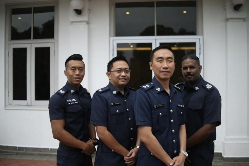 The team of four police officers were lauded for nabbing serial molester Aldrin Illias, who targeted girls as young as 10.