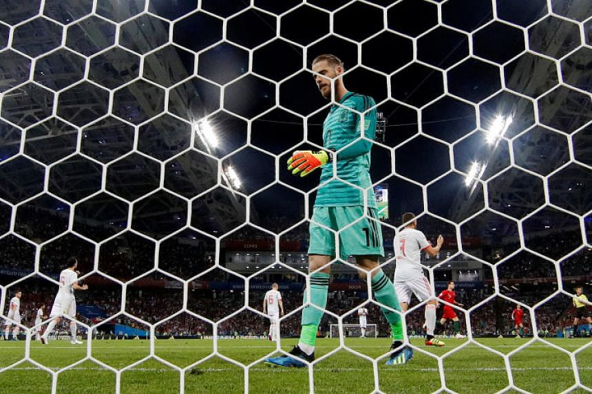 David de Gea has been criticised in Spain for his badly positioned defensive wall when Cristiano Ronaldo struck the late equaliser.