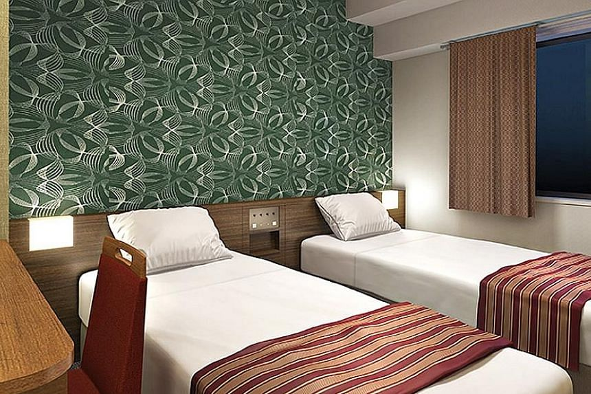 An artist's impression of a room at WBF Honmachi. The acquisition of the hotel will close by January next year.