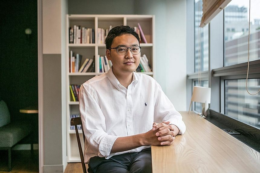 The Viva Republica office in Seoul. Toss, which lets users send each other as much as 2 million won (S$2,440) a day speedily, helped upturn a banking system clogged with security protocols and dominated by banks. Its success is rare in a country domi