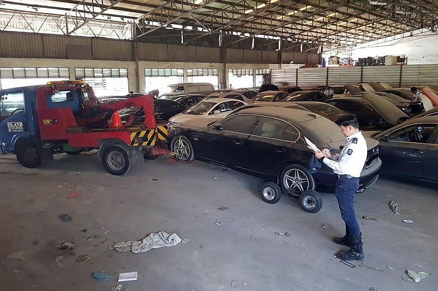 The 120 deregistered vehicles - mostly saloon cars - were seized at several locations on June 7. The LTA said owners of the raided premises are helping with its investigations.