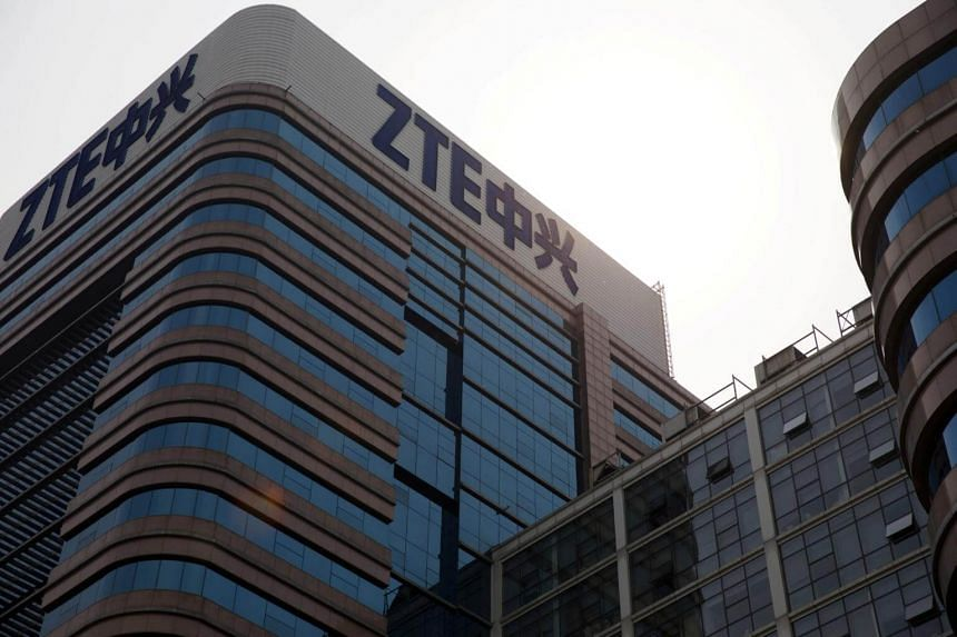 ZTE's Hong Kong-listed shares tumbled as much as 24 per cent to HK$10.02 (S$1.72) , its lowest in nearly two years, while its Shenzhen shares fell by their daily limit of 10 per cent.