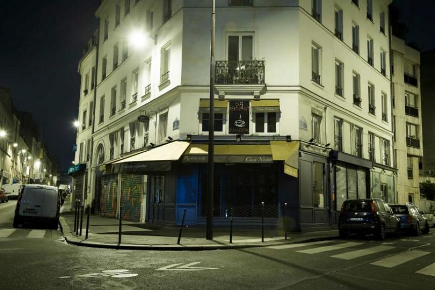 A file photo taken on Oct 14, 2016, shows the restaurant Casa Nostra restaurant in Paris, one of the targets of the terror attacks of November 13, 2015.