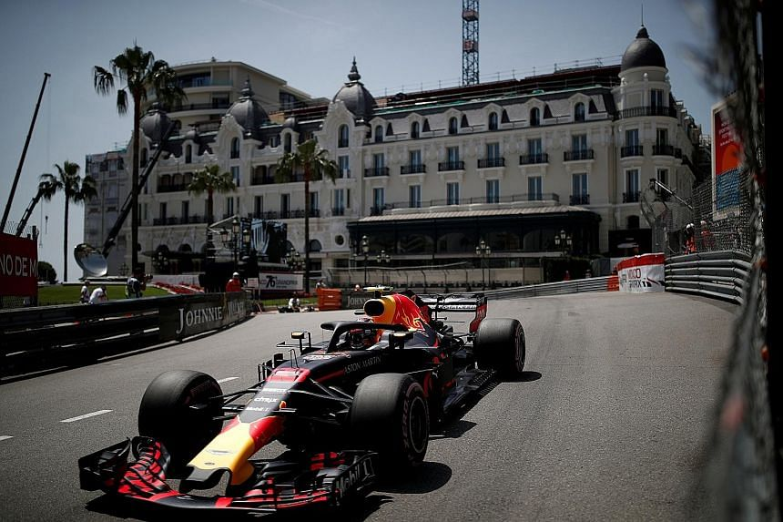 Red Bull's Daniel Ricciardo driving to victory at the Monaco Grand Prix. The Australian driver will have a new engine in his Red Bull next year, if he decides to stay with the team beyond this Formula One season.