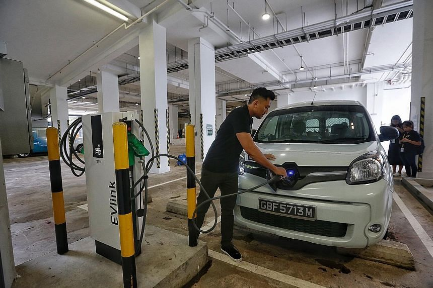 SP Group plans to place the charging points for electric vehicles in locations such as housing estates, shopping malls, industrial sites and business parks.
