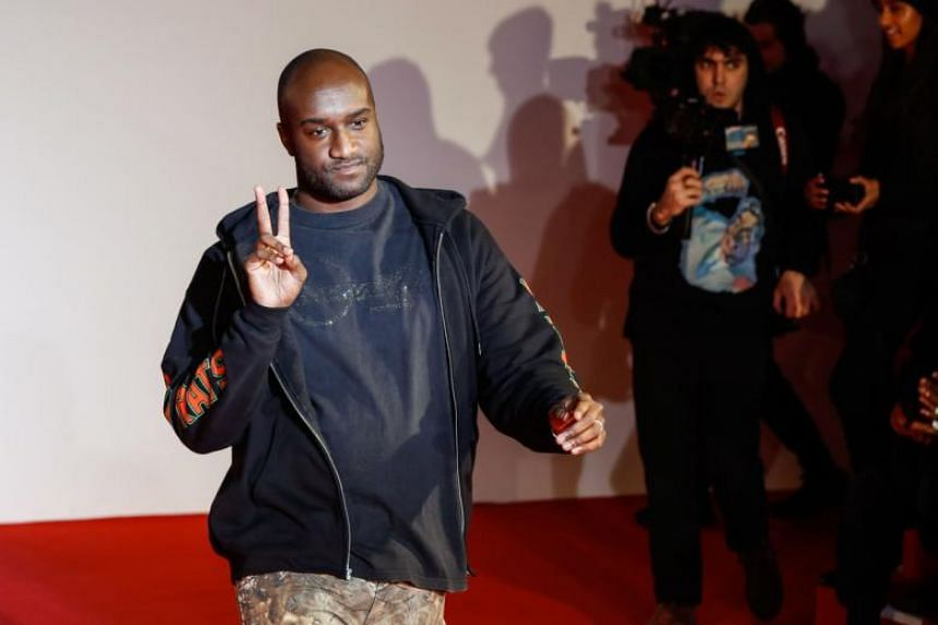 US fashion designer Virgil Abloh after the presentation of the men's Fall/Winter 2018/2019 collection he designed for Off-White.