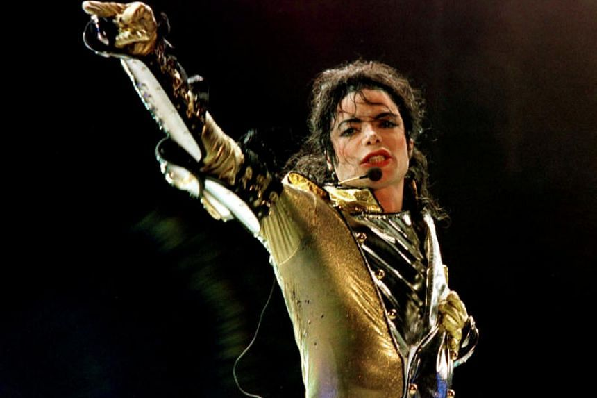 Michael Jackson performs during concert in Vienna, on July 2, 1997.