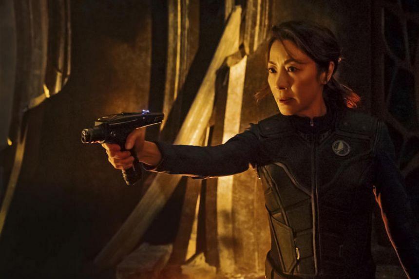 Television still: Star Trek: Discovery starring Michelle Yeoh.