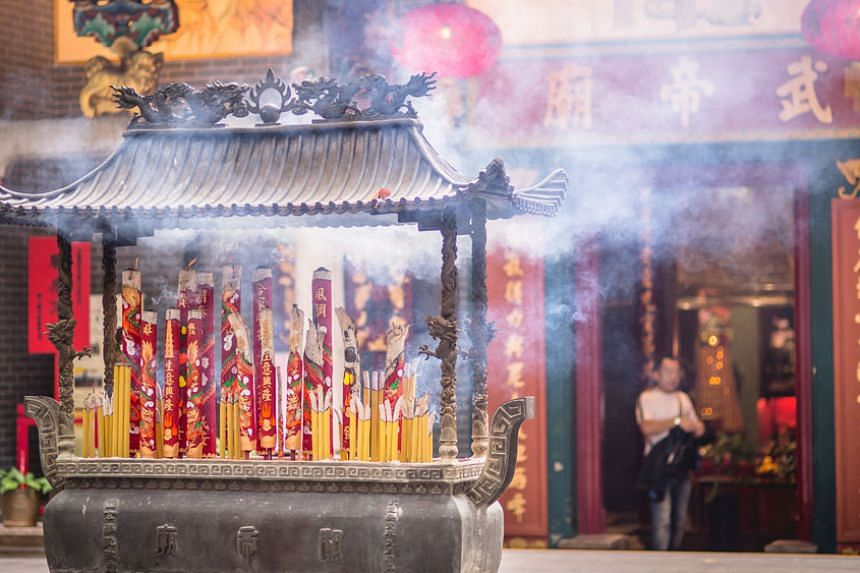 Kwan Tai Temple in Sham Shui Po. PHOTO: CHONG JUN LIANG