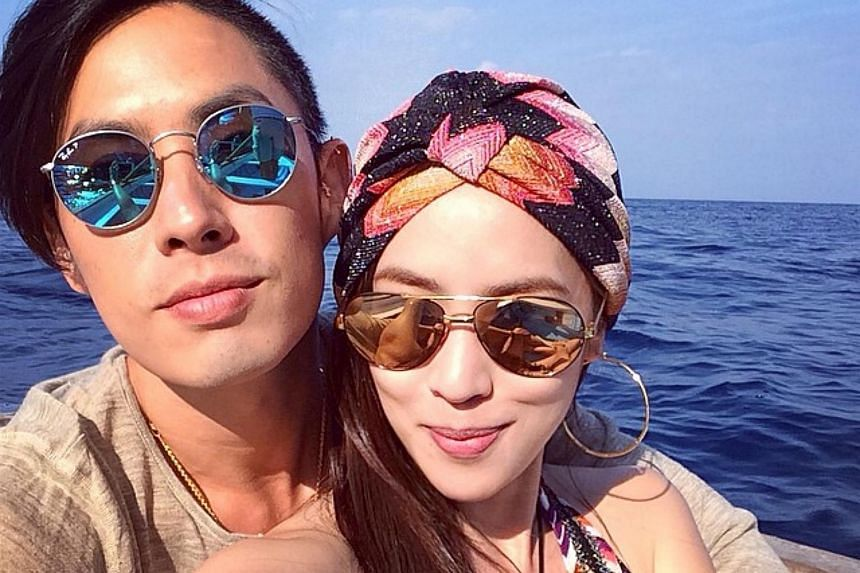 Arissa Cheo and Van Ness Wu seen togther in a photo posted on Instagram on Oct 7, 2014, with the hashtag #VanArissaHoneymoonin'.