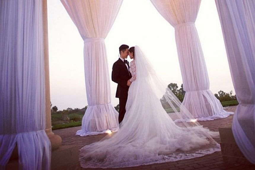 A photo taken on the couple's wedding day and posted on Instagram on Nov 17, 2013.