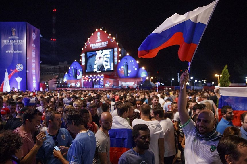 Fans watching the match between Russia and Egypt in the FIFA Fan Fest in Rostov-on-Don, on June 19, 2018.