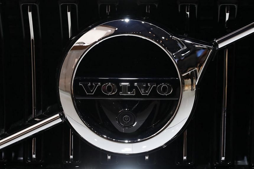 The logo for Volvo, one of the three dominant companies selling machinery used by domestic mining companies implicated in land expropriation, environmental destruction and armed conflict in Myanmar.