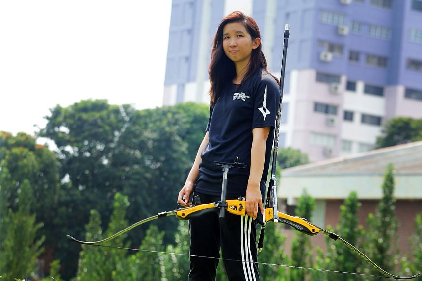 Miss Keller Chai, a childhood cancer survivor, picked up archery four years ago when she was studying at Ngee Ann Polytechnic. She has participated in national archery competitions and regional contests such as the Asian Games Invitational Tournament