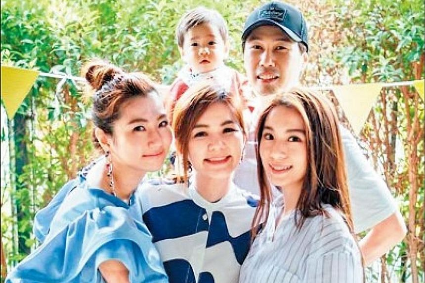 Taiwanese pop group S.H.E may not have performed together for some time, but members of the group (Selina Jen, left, and Hebe Tien, right) gathered on Monday to celebrate Ella Chen's (centre) 37th birthday with her husband, Malaysian businessman Alvi