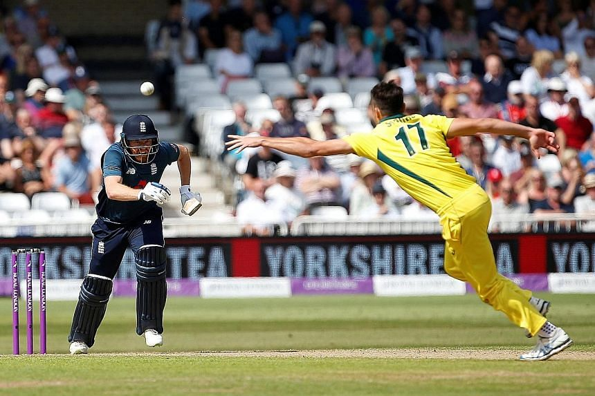 England opener Jonny Bairstow on his way to 139 at Trent Bridge on Tuesday as the home side scored a record 481-6 in a one-day international, defeating Australia by 242 runs to seal victory in the five-match series. The home side's top scorer was Ale