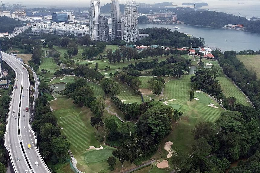 An aerial view of Keppel Club's golf course. The club's lease expires in December 2021. It is looking at several options, including becoming a social club with tie-ups for golfing with clubs in Johor Baru, Batam or local clubs. Another option is a me