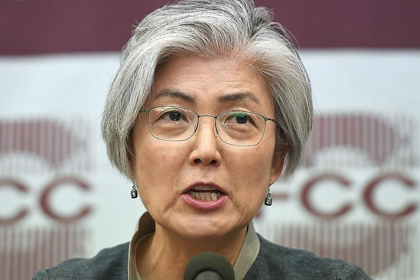 SOUTH KOREA'S FOREIGN MINISTER KANG KYUNG WHA