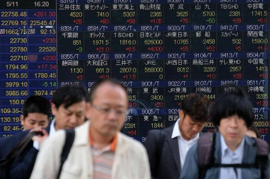Tokyo ended the morning session 0.8 per cent higher, with the yen weakening as investors shifted out of the safe-haven unit.