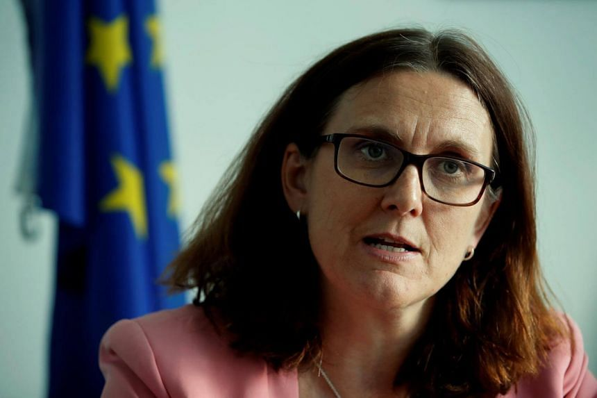 EU Trade Commissioner Cecilia Malmstrom said there was no option but to take retaliatory action to protect European interests and jobs.