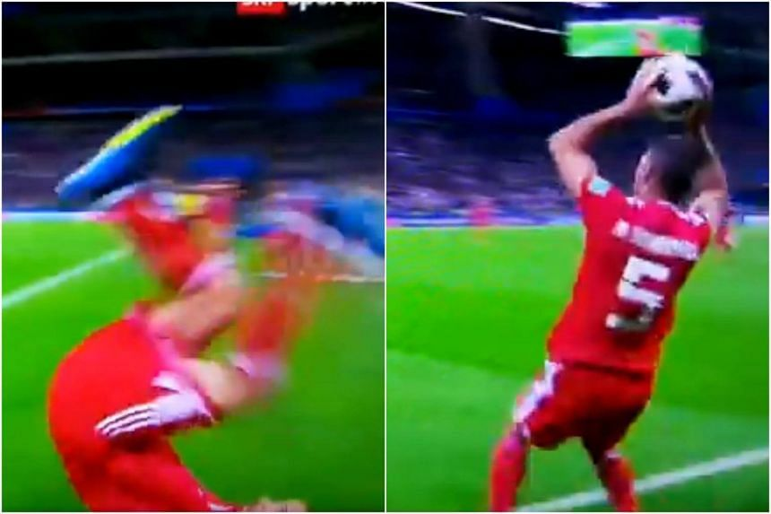 Iran Fullback Milad Mohammadi Launched Himself Into A Fancy Front Flip Before Messing Up His