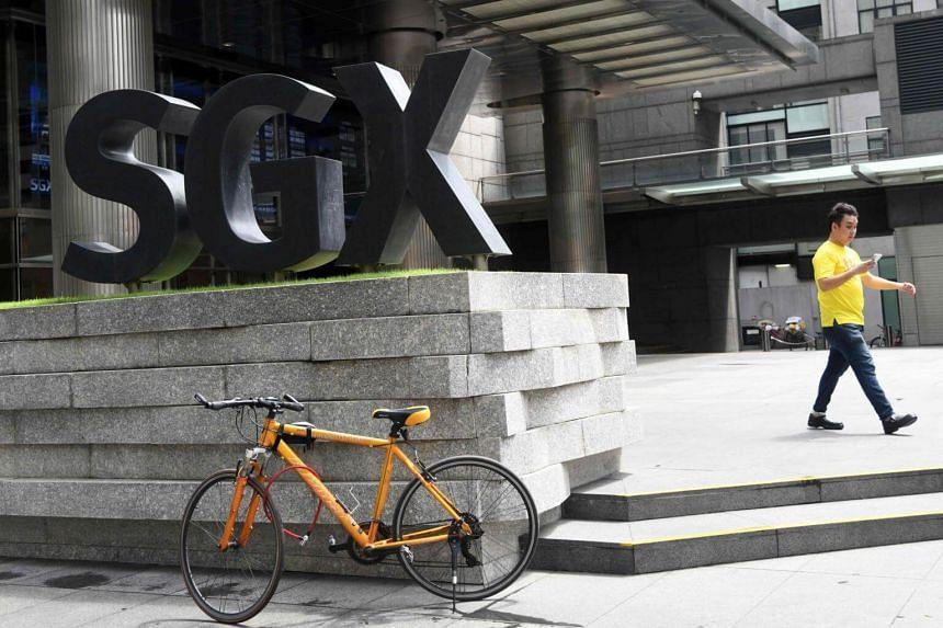 The Singapore Exchange Centre along Shenton Way.