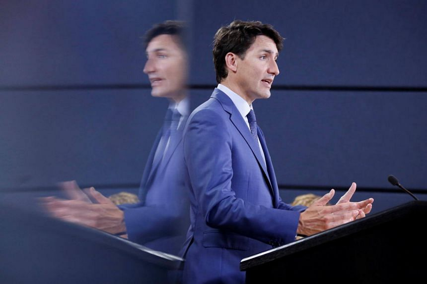 Canadian Prime Minister Justin Trudeau at a news conference in Ottawa, Ontario, Canada, on June 20, 2018.