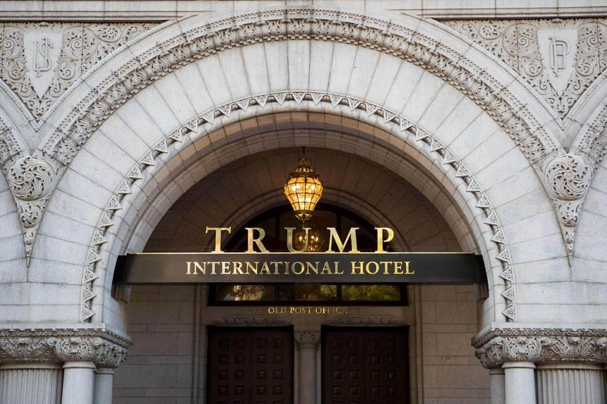 File photo showing an entrance of Trump International Hotel in Washinton, DC.