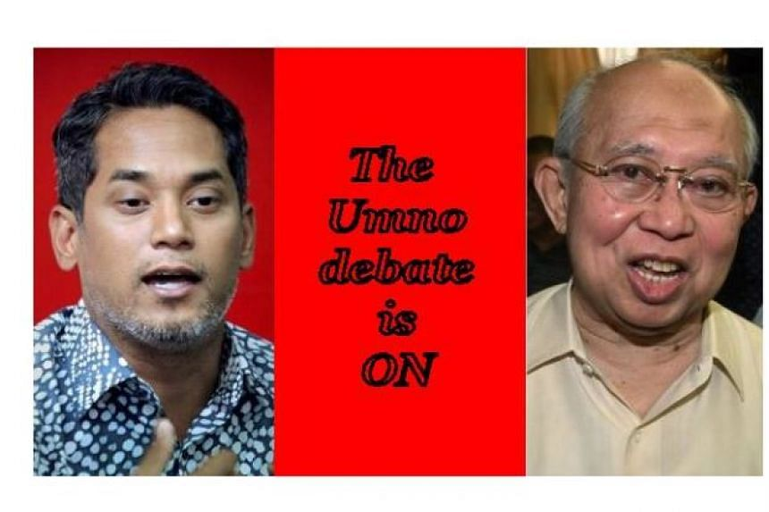 Veteran Umno leader Tengku Razaleigh Hamzah (right) will go head-to-head against outgoing Umno Youth chief Khairy Jamaluddin in a televised exchange set to be aired on Astro Awani at 9.30pm on June 29, 2018.