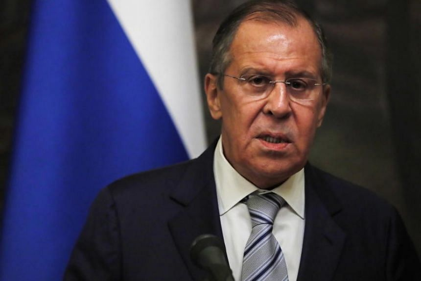Russian Foreign Minister Sergei Lavrov attends a press conference after his meeting with United Nations Secretary General Antonio Guterres in Moscow, Russia, on June 21, 2018.