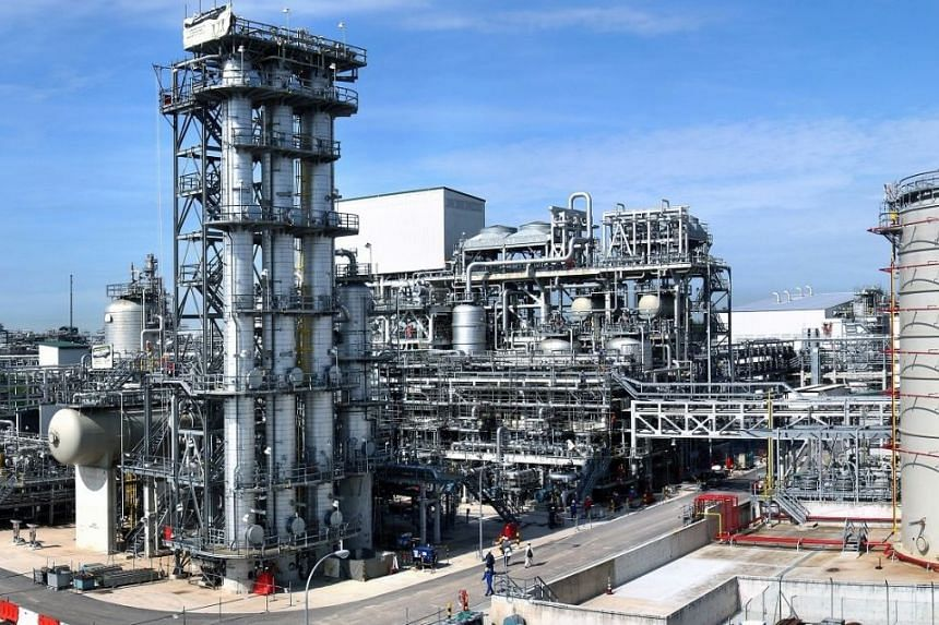 ExxonMobil's Singapore resins planrt is one of the group's two new multi-billion dollar petrochemical plants here.