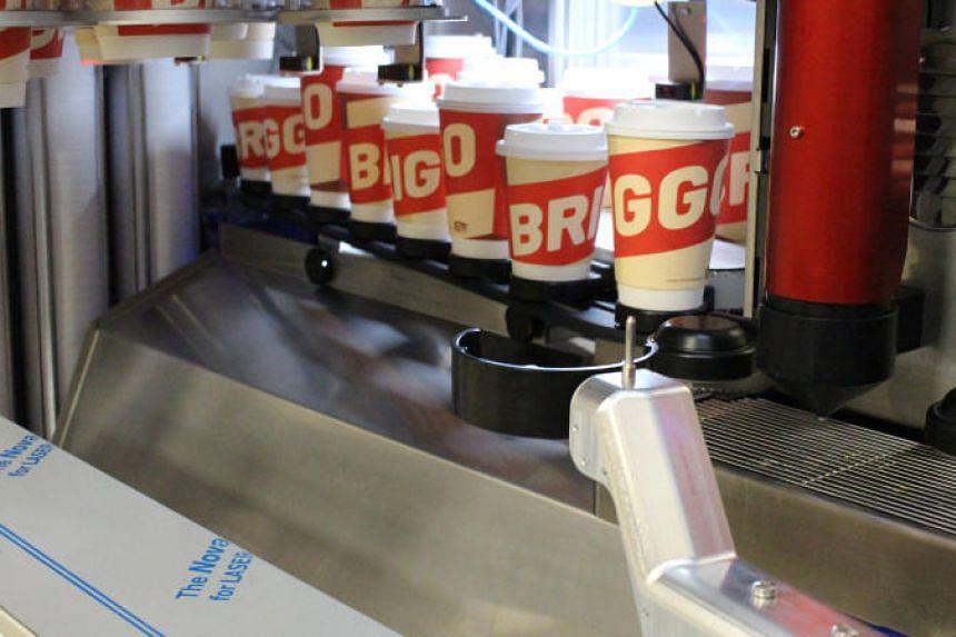 Briggo's robotic coffee vendor.