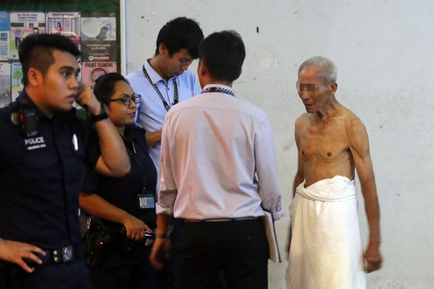 A man in his 80s was rescued after a fire at King George's Avenue. The man, who was the owner of the unit that caught fire, was assisting in investigations at the void deck.