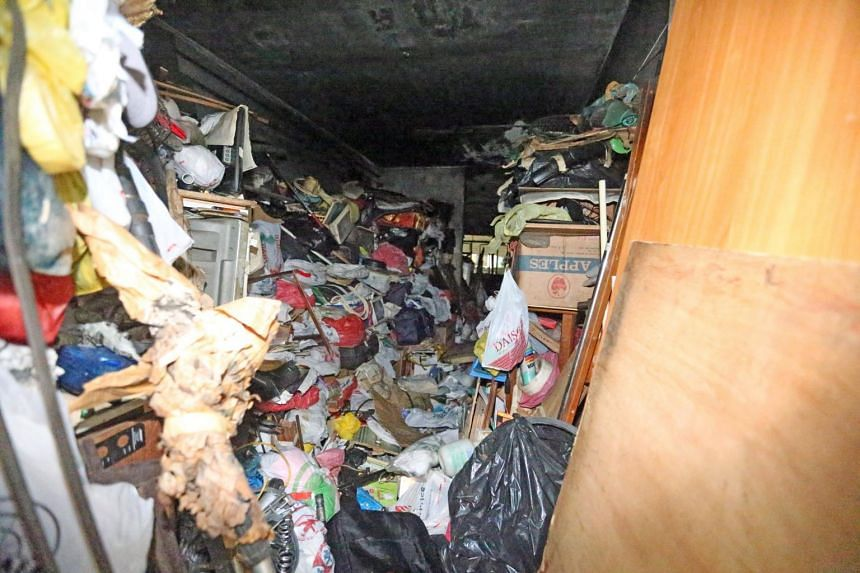 A man in his 80s was rescued after a fire at King George's Avenue. The unit that caught fire contained a large amount of rubbish.