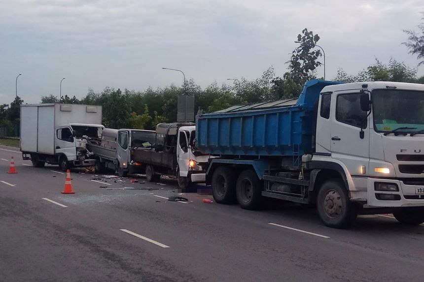 A 31-year-old man was pronounced dead in a chain collision along Tanah Merah Coast Road on Wednesday (June 20).